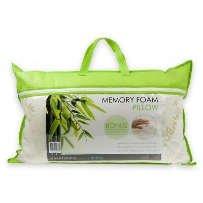 Essentially Home Living Memory Foam Pillow with Bamboo Cover