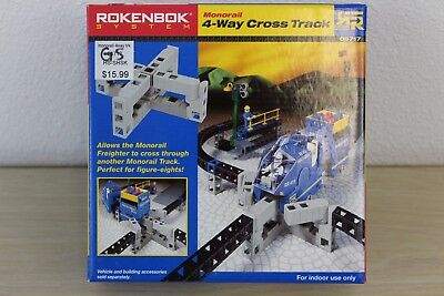 Monorail 4-Way Cross Track Set #06717 Rokenbok System Building 2001 NEW in Box