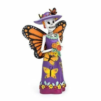 Miniature Fairy Garden Day Of The Dead Butterfly Catrina Figurine Nightmare Deco