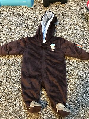 Carters Baby Boy Snow Suit Monkey Size 3 Months