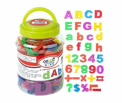 Capital & Lowercase Alphabet Letters and Numbers Magnetic Toys With Jar 78Pcs