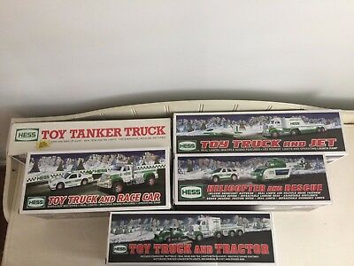 Lot of 5 Hess Toy Trucks, CIB