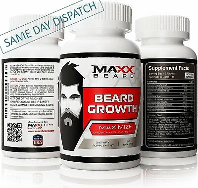 MAXX Beard - Maximize Beard Growth & Volume - Stimulate & Support Supplement