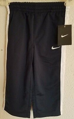 Nike Boys Toddler Athletic Pants Size 2T Navy Blue with White Swoosh Logo NWT