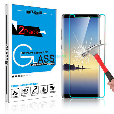 9H Premium Tempered Glass Screen Protector Clear Film for Samsung Galaxy Note 8