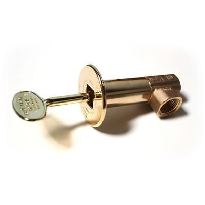 "Fireplace Accessories Angled Multi-Turn Brass Valve With 3"" x 1/4"" - 5/16"" Brass"