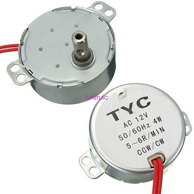 Pro TYC 50 12V 4W 50/60Hz Synchronous Motor 5/6RPM CW CCW F. Microwave Turntable
