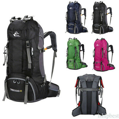 20-60L Travel Backpack Cycling Hiking Climbing Camping Bag with Rain Cover