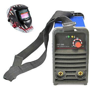 200A 110V IGBT INVERTER MMA Welder 3.2 rod welding machine & Helmet in US STOCK