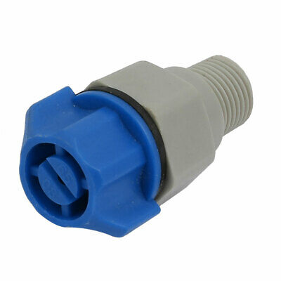 1/4BSP Male Thread Plastic Garden Spray Sprayer Flat Jet Nozzle Black Blue