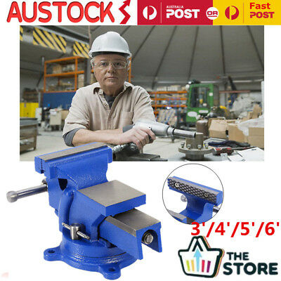 """360°Swivel Base Heavy Duty Table Bench Vice Grip Clamp3'' 4"""" 5"""" 6"""" inch Workshop"""