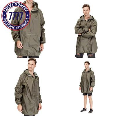 4Ucycling Raincoat Easy Carry Rain Coat Jacket Poncho In A Pouch Outdoor, Army G