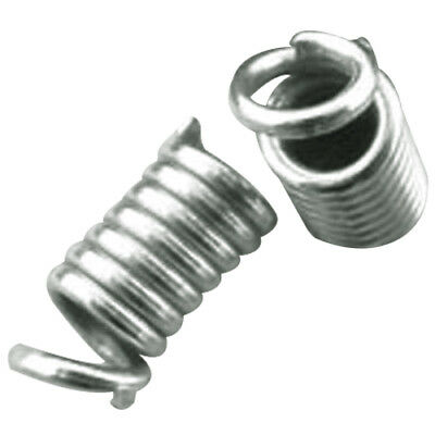 200x Silver Coil End Crimp Fasteners 4x8mm G5M9
