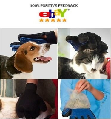 Pet Cleaning Brush Glove Hair Massage Dog Cat Grooming Magic Removal Groomer Fur