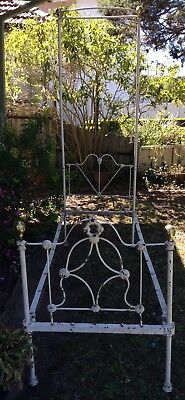 Antique Wrought Iron Single Bed Frame