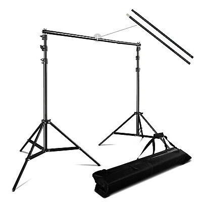 2.8x3m Kit de Studio Photo Background Support de Fond Stand avec Sac Gratuit FR