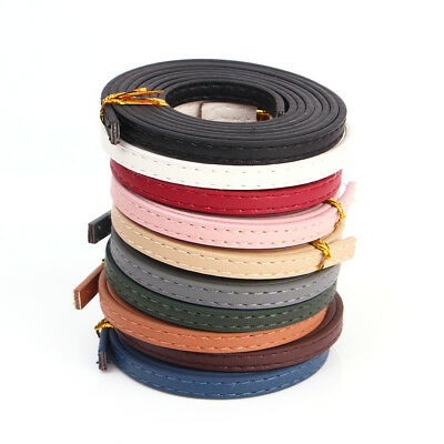1m 6mm Fish Ridge Line Faux Leather Strips Cord Flat Rope Thread String Craft