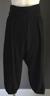 ABBAlicous Genuine 1980's/1990's Black High Waisted Cropped Harem Pants Size 8