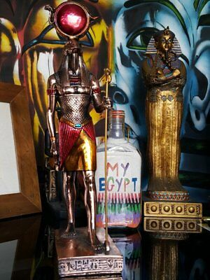 Brass-style-statue-horus-hand-made-in-egypt-imported-into-australia