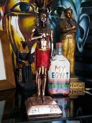 Brass-style-statue-pharoah-tutankhamun-hand-made-in-egypt-imported-into-austr...