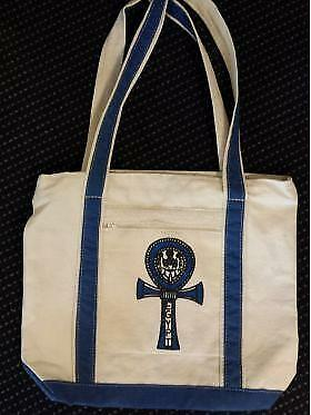 egyptian-canvas-bag-printed-blue-ankh-with-blue-fabric-trim-made-in-egypt-imp...