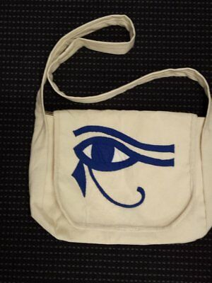 egyptian-canvas-bag-applique-eye-of-horus-blue-made-in-egypt-imported-into-au...