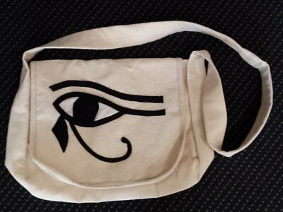 egyptian-canvas-bag-applique-eye-of-horus-black-made-in-egypt-imported-into-a...