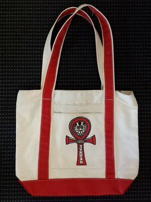 egyptian-canvas-bag-printed-red-ankh-with-red-fabric-trim-made-in-egypt-impor...