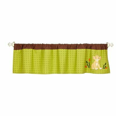 The Lion King- Wild About you! Window Valance- Green by Disney Baby