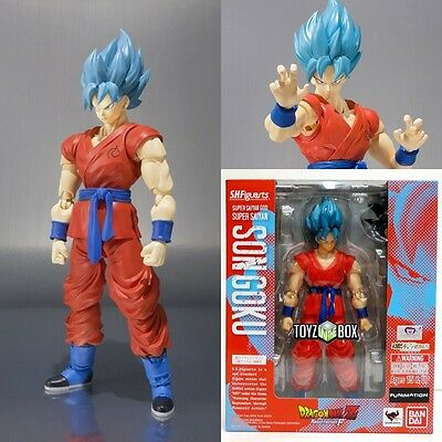 S.H. Figuarts Super Saiyan God Blue Goku Dragon ball Z DBZ Bandai Action Figure
