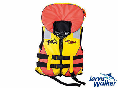 pfd jarvis walker gulf stream l100 childs med 25-40kg fishing personal floation