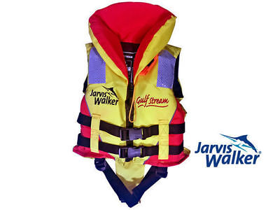 pfd jarvis walker gulf stream l100 childs xxs 10-15kg fishing personal flotation
