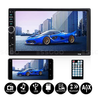 "Double DIN 7"" Touch screen FM Radio USB MP5 Car Stereo Player Bluetooth 1080P"