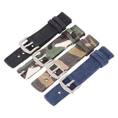 18 20 22 24mm New Wrist Watch Canvas Band Strap Belt Replacement 4 Colors
