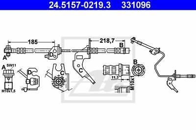 Bremsschlauch OPEL ATE 24515702193 AT