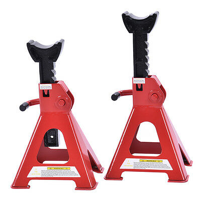 2 X 3 Ton Axle Stands Lifting Capacity Stand Car Caravan Floor Jack Heavy Duty