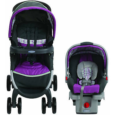 Stroller & Car Seat Combo Baby Travel System Graco FastAction Fold Click Connect