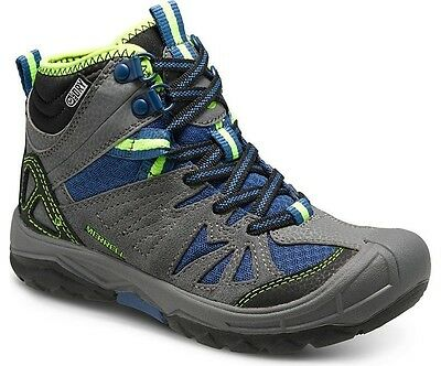 Merrell Capra Mid Kids, Waterproof Walking Boots for Kids, Grey