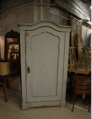 Gorgeous Light Grey Arched Top Single Door Antique cupboard/wardrobe With Shelve