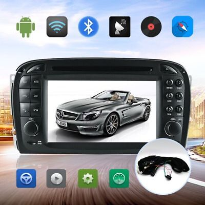 Android 7.1 Car GPS Navigation Radio DVD Player For Mercedes Benz SL R230 SL500