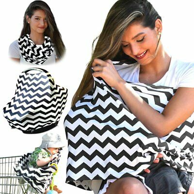 2in1 Breastfeeding Baby Car Seat Canopy Cover Nursing Scarf Cover Up Apron Shawl