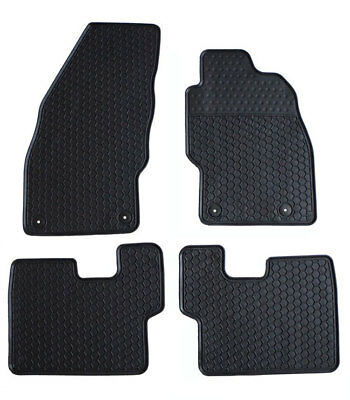 Tailored Heavy Duty Black Moulded Rubber Car Floor Mats 3mm Corsa E 2014+