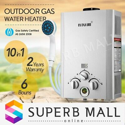 MAXKON Portable Outdoor 520L/Hr Gas Hot Water Heater Shower Camping LPG Instant