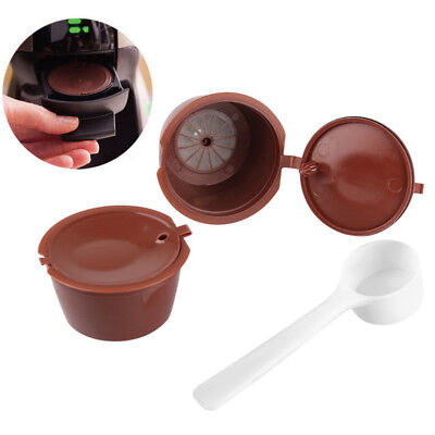 2X Refillable Reusable Coffee Capsules Pod Cup Plastic for Nescafe Dolce Gusto