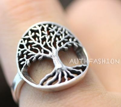 ROXI Silver ring tree of life solid women lady jewelry size6-9 wedding cute gift