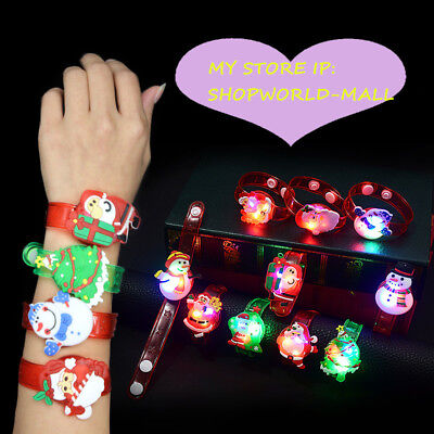NEW BOYS GIRLS CHILD'S KIDS SILICONE   BRACELET FLASH TOY Halloween Xmas Gift