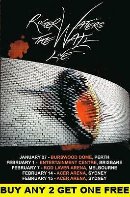 ROGER WATERS  The Wall 2012 Laminated Australian Tour Poster