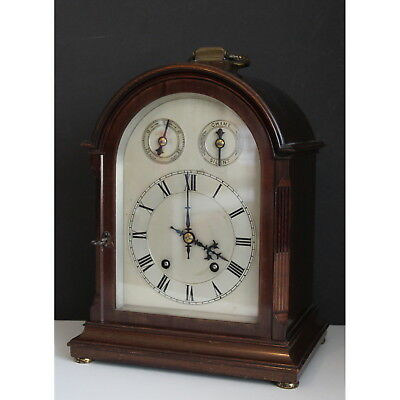 A C19th Winterhalder & Hoffmier Mahogany Cased Bracket Clock