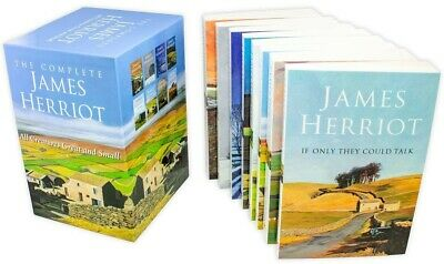 The Complete James Herriot Box Set 1-8 Collection 8 Books Set