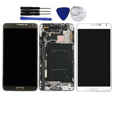 For Samsung Galaxy Note 3 SM-N900A N900T LCD Touch Digitizer Digitizer Frame US